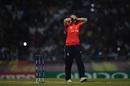 Anya Shrubsole has her hands on her face, England v Australia, Women's World T20 final, Antigua, November 24, 2018
