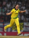 Georgia Wareham celebrates a wicket, England v Australia, Women's World T20 final, Antigua, November 24, 2018