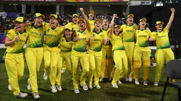 Australia celebrate their World T20 victory