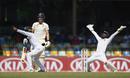 Niroshan Dickwells appeals as Rory Burns falls lbw, Sri Lanka v England, 3rd Test, SSC, Colombo, 3rd day, November 25, 2018