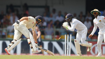 Niroshan Dickwella completed the stumping of Jos Buttler