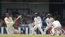 Ben Foakes scoops a shot over the close fielders, Sri Lanka v England, 3rd Test, SSC, Colombo, 3rd day, November 25, 2018
