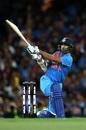 Shikhar Dhawan slogs powerfully, Australia v India, 3rd T20I, Sydney, November 25, 2018