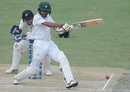 Babar Azam pulls, Pakistan v New Zealand, 2nd Test, Dubai, 2nd day, November 25, 2018