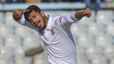 Nayeem Hasan bagged five wickets in an innings on his debut, becoming the youngest Bangladeshi to take a five-for in a Test