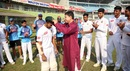 Chief selector Minhajul Abedin presents debutant Shadman Islam with a cap, Bangladesh v West Indies, 2nd Test, Mirpur, 1st day, November 30, 2018