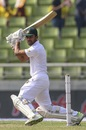 Shadman Islam cuts the ball off the back foot, Bangladesh v West Indies, 2nd Test, Mirpur, 1st day, November 30, 2018