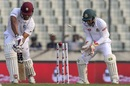Kieran Powell loses his off stump, Bangladesh v West Indies, 2nd Test, Mirpur, 2nd day, December 1, 2018