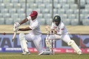 Kieran Powell gets down for a slog, Bangladesh v West Indies, 2nd Test, Dhaka, 3rd day, December 2, 2018