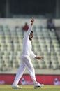 Mehidy Hasan celebrates a wicket, Bangladesh v West Indies, 2nd Test, Dhaka, 3rd day, December 2, 2018