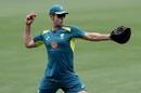 Shaun Marsh aims a throw during Australia's training session, Adelaide, December 3, 2018