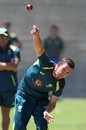 Josh Hazlewood bowls during a net session, Adelaide, December 3, 2018