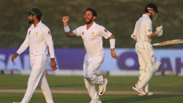 Yasir Shah bathed in the warm glow of sunset