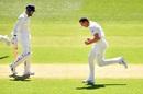 Josh Hazlewood celebrates the wicket of KL Rahul, Australia v India, 1st Test, Adelaide, 1st day, December 6, 2018
