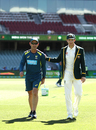 Justin Langer and Tim Paine take a walk, Australia v India, 1st Test, Adelaide, 1st day, December 6, 2018