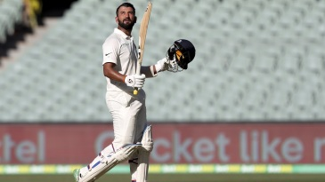 Cheteshwar Pujara marks his 16th Test century with quiet celebrations