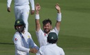Yasir Shah celebrates his 200th Test wicket, Pakistan v New Zealand, 3rd Test, Abu Dhabi, 4th day, December 6, 2018