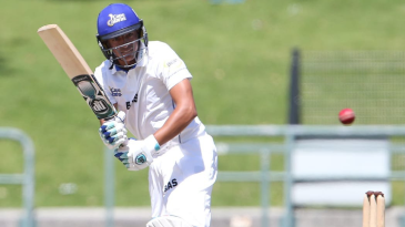 Zubayr Hamza in action for the Cape Cobras