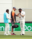 Mohammed Shami gets some attention from the physio, Australia v India, 1st Test, Adelaide, 2nd day, December 7, 2018