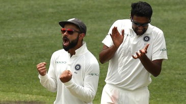 Virat Kohli and R Ashwin are elated after Usman Khawaja's dismissal