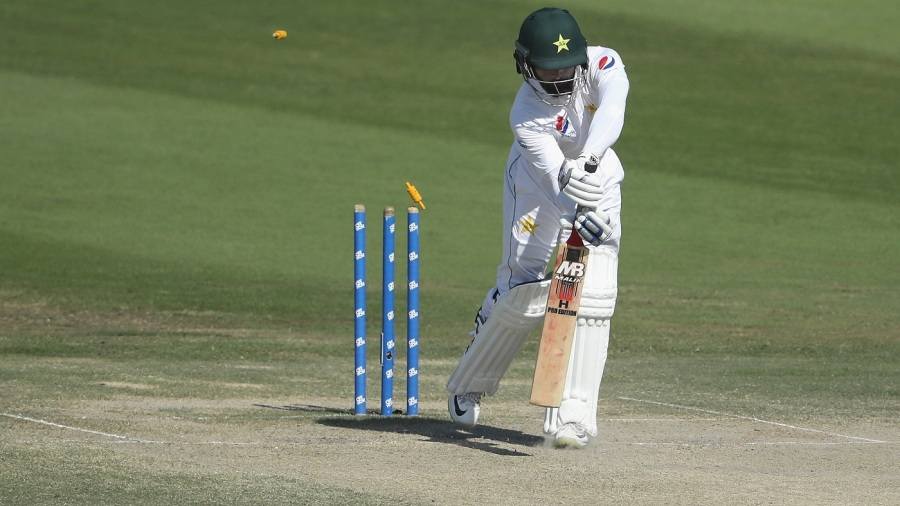 Mohammad Hafeez was bowled by a brute in his final Test innings