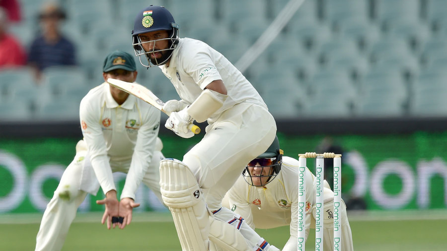 Cheteshwar Pujara defied Australia for the second time in the match