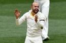 Nathan Lyon celebrates a wicket, Australia v India, 1st Test, Adelaide, 4th day, December 9, 2018