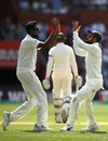 R Ashwin high fives Virat Kohli, Australia v India, 1st Test, Adelaide, 4th day, December 9, 2018