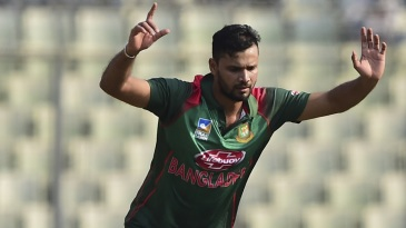 Mashrafe Mortaza is pumped after getting a wicket
