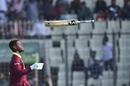 Shimron Hetmyer expresses his frustration after being dismissed, Bangladesh v West Indies, 1st ODI, Dhaka, December 9, 2018