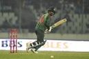 Liton Das glides the ball down to third man, Bangladesh v West Indies, 1st ODI, Dhaka, December 9, 2018