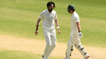 Ishant Sharma bowled a great bouncer to dismiss Travis Head