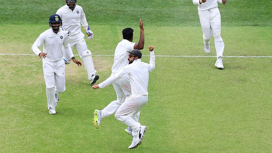 Virat Kohli leads India's celebrations