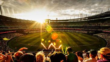 Spectators watch the Melbourne BBL derby