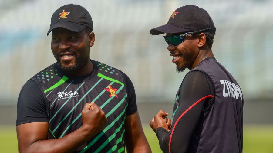 Left-arm spinner Wellington Masakadza was given his Test cap by Zimbabwe captain - and his older brother - Hamilton.