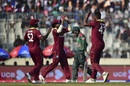 Oshane Thomas celebrates after getting Mushfiqur Rahim out, Bangladesh v West Indies, 2nd ODI, Dhaka, December 11, 2018