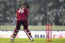 Darren Bravo loses his stumps, Bangladesh v West Indies, 2nd ODI, Dhaka, December 11, 2018