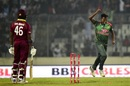 Rubel Hossain is chuffed after picking up a wicket, Bangladesh v West Indies, 2nd ODI, Dhaka, December 11, 2018
