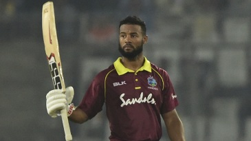 Shai Hope celebrates a hundred