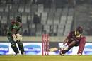 Shai Hope reverse-sweeps, Bangladesh v West Indies, 2nd ODI, Dhaka, December 11, 2018