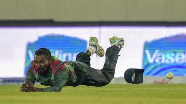 Nazmul Islam drops a catch