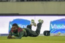 Nazmul Islam drops a catch, Bangladesh v West Indies, 2nd ODI, Dhaka, December 11, 2018