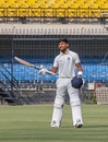 Ajay Rohera acknowledges the applause after hitting 267* on debut, Madhya Pradesh v Hyderabad, Ranji Trophy 2018-19, Day 3, December 8, 2018