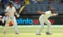 Mohammed Shami had a couple of lbw appeals against Aaron Finch early in his spell, Australia v India, 2nd Test, Perth, 1st day, December 14, 2018