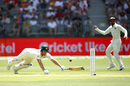 Aaron Finch dives to make his ground, Australia v India, 2nd Test, Perth, 1st day, December 14, 2018