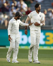 Ishant Sharma faced some discomfort towards the end of the day, Australia v India, 2nd Test, Perth, 1st day, December 14, 2018