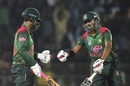 Tamim Iqbal and Soumya Sarkar fist-bump each other, Bangladesh v West Indies, 3rd ODI, Sylhet, December 14, 2018