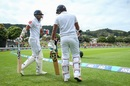 Sri Lanka's openers walk out to take the field, New Zealand v Sri Lanka, 1st Test, Wellington, 1st day, December 15, 2018