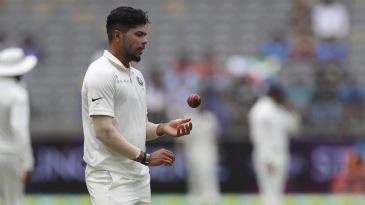 Umesh Yadav gets to his run up