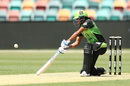 Harmanpreet Kaur carves the ball into the off side, Adelaide Strikers v Sydney Thunder, WBBL 2018-19, Hobart, December 16, 2018